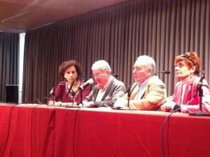 Fotografía de la mesa del acto de 30 años de democracia en la ONCE
