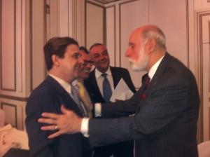 Enrique Varela, Victor Calvo Sotelo y VINTON CERF charlando