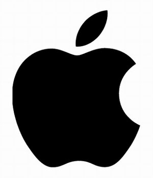 Logo Apple en negro
